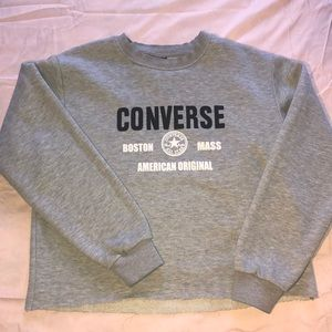 All Star Converse Cropped Hoodie